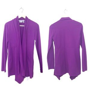 Athleta Purple Clasp Front Sport Cardigan
